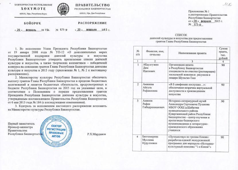 Положение о конкурсе на стипендию главы республики